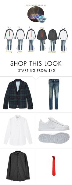 """""""《Goodbye Stage》Star X - Matter Over Sunrise (일출 문제) on M Countdown"""" by official-starx ❤ liked on Polyvore featuring Gucci, American Eagle Outfitters, MANGO MAN, adidas, BOSS Black, Versace, men's fashion and menswear"""