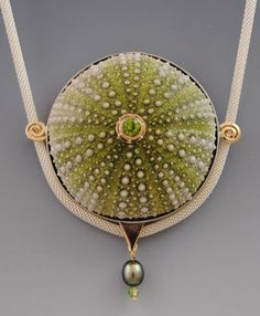fine art jewelry made from sea urchins and shells