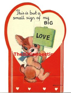Vintage Valentine This is but a small sign of by TheIDconnection, $15.00