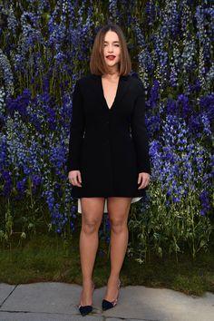 TheNorwegianPrincess♚ Emilia Clarke au défilé Dior.