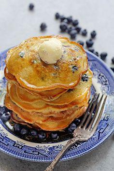 Easy Blueberry Pancakes | Grandbaby Cakes