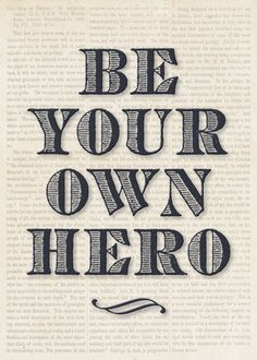 Be Your Own Hero Card
