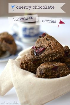 The delicious duo of cherries and chocolate are made even better with the addition of nutty buckwheat in these tender gluten free scones.
