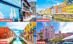 From the vividly painted townhouses of Copenhagen to the rainbow-drenched streets of Venice, here's our pick of the world's most colourful destinations. Venice Florida, The Danish Girl, Blue Building, Lake Atitlan, New Brunswick, Luxury Holidays, Florida Travel, City Break, Color Stories