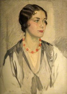 """""""Michie"""" -- by Sir James Gunn (British, 1893-1964). Photo credit: The Potteries Museum & Art Gallery; © estate of the artist."""