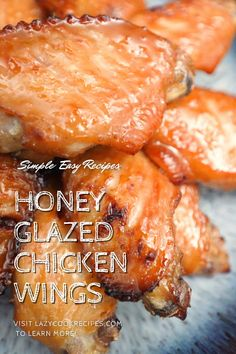 These baked honey glazed chicken wings are the perfect blend of sweet and savory. Packed full of flavors, these chicken wings are tasty and tender! This is a great snack that you could easily make at home. It is an authentic Chinese cuisine recipe with simplified steps and ingredients required! Check out our website where could you find the written step by step recipes with images and videos to teach you how to become a better cook at home! Fun Cooking, Cooking Recipes, Honey Glazed Chicken, Tasty, Yummy Food, Recipe Boards, Cook At Home