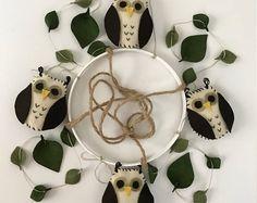Owl baby mobile, Owl nursery mobile, Felt mobile, Owl nursery decoration