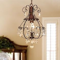 Shop for Copper Grove Lutea Brushed Oak Teardrop Crystal/ Wood Chandelier. Get free delivery On EVERYTHING* Overstock - Your Online Ceiling Lighting Store! Get in rewards with Club O! Victorian Home Decor, Victorian Homes, Muebles Estilo Art Nouveau, 5 Light Chandelier, Country Chandelier, Candle Chandelier, Bronze Chandelier, Beaded Chandelier, Black Iron Chandelier