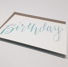 Watercolor Birthday Greeting Card by Wanderlove Press | Made in USA