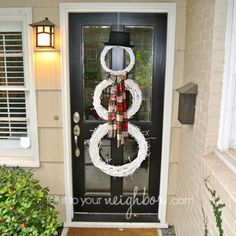 snowman wreath, grapevine snowman