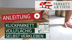 DIY Kurzanleitung - Landhausdielen & Parkett richtig verkleben. Ideal für die Verlegung von Parkett auf Fußbodenheizung. Youtube, Action, Youtubers, Youtube Movies