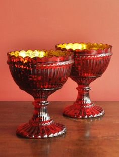 Large Red Gold Sweet Treat (Set of 2)
