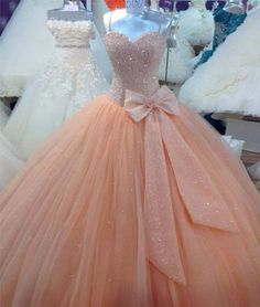 Cheap ball gowns quinceanera dresses, Buy Quality sweet 16 dresses directly from China quinceanera dresses Suppliers: Peach Tulle Ball Gown Quinceanera Dresses Real Image Spaghetti Corset Cheap Sweet 16 Dress with Bow Size Pageant Gowns Quinceanera Dresses Peach, Dama Dresses, Quince Dresses, 15 Dresses, Cute Dresses, Wedding Dresses, Gown Wedding, Party Dresses, Tulle Wedding
