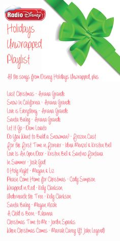 Disney Radio & # s Epic Holiday Playlist - List Halloween Disney Playlist, Disney Songs, Song Playlist, Disney Music, Christmas Music Playlist, Xmas Songs, All Things Christmas, Kids Christmas, Merry Christmas