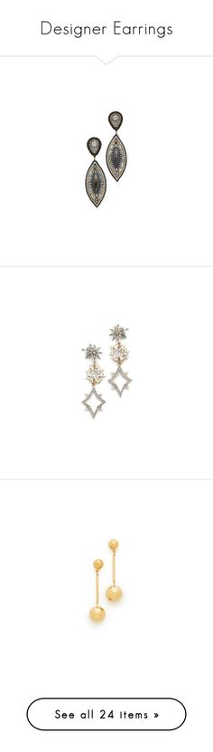 """""""Designer Earrings"""" by modalist ❤ liked on Polyvore featuring jewelry, earrings, beaded jewelry, beaded earrings, quartz jewelry, beading earrings, miguel ases earrings, stainless steel jewelry, star jewelry and lulu frost"""