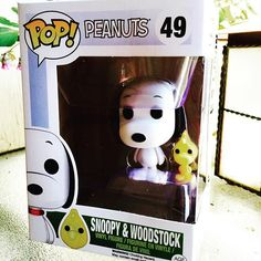 My son surprised me with POP! #Peanuts Snoopy & Woodstuck figures! Can't wait to collect all of them