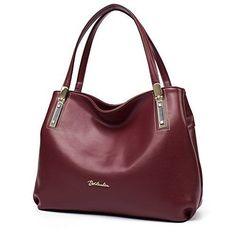 Womens Leather Handbags Designer Purses Tote Shoulder Bags Office Daily Fashion #WomensLeatherHandbags