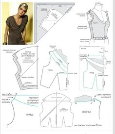 Sewing Blouse Neckline maybe too low. Fix by moving AB line in towards centre front, and upwards? Sewing Hacks, Sewing Tutorials, Sewing Crafts, Pattern Cutting, Pattern Making, Blouse Patterns, Clothing Patterns, Formation Couture, Sewing Blouses