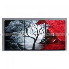 Handmade Modern Abstract Art Oil Painting Scenery Tree On Canvas