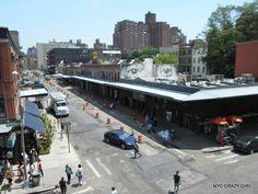 high line parc gansevoort market manhattan new york nyccrazygirl Chelsea Manhattan, Manhattan New York, Gansevoort Market, New York Shopping, Ville New York, High Line, Crazy Girls, Spots, Street View