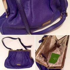 "Kate Spade ""Lolla Dixie Street"" Purse/Clutch Kate Spade ""Lolla Dixie Street"" leather bag in ""purple aster"" color..  beautiful leather, w/ an adjustable strap and bow clasp closure. Perfect for weddings, brunch, etc! kate spade Bags Clutches & Wristlets"