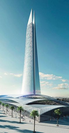 Design for Al Noor Tower (Tower of Light) to be built in Casablanca, Morocco.