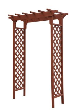"""Features:  -Chinese fir wood construction.  -Built-in-trellis.  -Complements outside door.  -Classic design.  -1 Year warranty. Dimensions:  -Arbor interior width: 55"""".  --The Sturdy Deluxe Garden Arb"""
