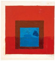 Exhibition: 'Painting on paper – Josef Albers in America' at Pinakothek der Moderne, Munich – Art Blart Josef Albers, Anni Albers, List Of Paintings, Modern Paintings, Oil Paintings, Abstract Painters, Color Studies, Art Moderne, Aboriginal Art