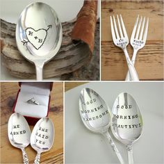 Hand Stamped  Personalized Spoons