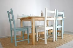 DIY _ CHALKPAINTED IVAR CHAIRS : Fresh & Wood