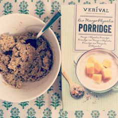 Melihas first encounter with the Mango Physalis Porridge.