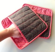 Modern quilted potholders