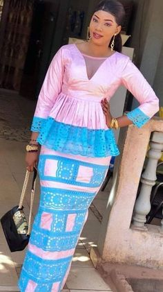 African Attire, African Wear, African Fashion, African Print Dresses, African Dress, Dress Robes, Fashion Outfits, Womens Fashion, Wax