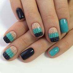 Sweater Nail Art Design
