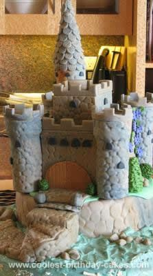 Homemade Castle Birthday Cake: This Castle birthday cake was for a young lady who loves Scotland and all of it's history. She graduated grade 12 and it seemed fitting to do a castle