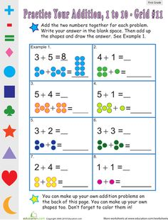 Cool site with lots of practice sheets Count the Dots #11 | Education.com