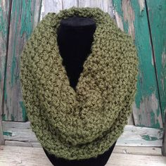 A personal favorite from my Etsy shop https://www.etsy.com/listing/243550867/knit-cowl-scarf-infinity-winter-green