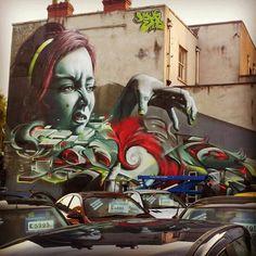 Smug x Epok New Mural In Bristol