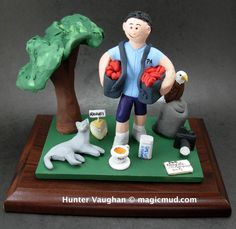 Husband's Personalized Christmas Gift   www.magicmud.com 1 800 231 9814 creating a custom made gift figurine for any man based on the things he likes to do! ...incorporating his work, sports, family, hobbies, food, drink, electronic gadgets, etc. $225 #dad #men #guys #christmas #birthday #anniversary #custom #personalized #xmas #present #award #ChristmasGift #BirthdayGift #husband