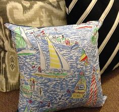 Get Nauti Lilly Pulitzer 16x16 Pillow & Cover by PreppyPinkShop, $49.99