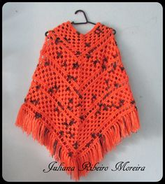 poncho super facil de croche.....