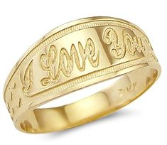 Size- 10.5 - New Solid Ladies 14k Yellow Gold I Love You Heart Ring. New Solid Ladies 14k Yellow Gold I Love You Heart Ring. This brand new ring has a dazzling high polish finish. Solid and Pure 14k Gold, NOT plated. Authenticated with a 14k stamp. This ring is absolutely stunning and we are confident you will love it.