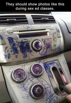 If someone did this in my car I would go bananas!!!