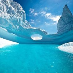 Shades of blue in Antarctica. Photo courtesy of globaltouring on Instagram.