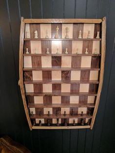I saw this vertical chess board at a bourbon bar.
