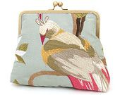 Embroidered peacock clutch : Silk bridal purse / wedding accessory / bridesmaid gift. 75.00, via Etsy.