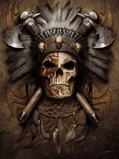 Hip-Hop Punk Skull School Bags For Boys Small Shoulder Bag Children Kindergarten Backpacks Kid Mini Book Bag Mochila Infantil Indian Skull Tattoos, Badass Skulls, Totenkopf Tattoos, Indian Scout, Tatoo Art, Wow Art, Grim Reaper, Skull And Bones, Native American Art