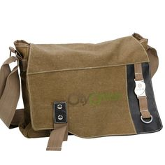 New Men Canvas Shoulder Messenger Bag Khaki Black Green 3 Colors to Pick   eBay