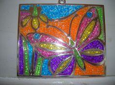 butterfly mosaic art | MOSAIC BUTTERFLY Mosaic Art, Mosaics, Butterfly Mosaic, Painting, Painting Art, Paintings, Mosaic, Painted Canvas, Drawings