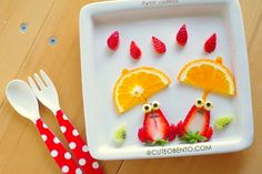 Fruit plate of frog - ◆ lunch * Character valve & Dekosu~itsu today ◆